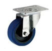 Blue Elastic Rubber Swivel Top Plate 100mm