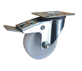 Nylon Swivel Top Plate Braked 80mm