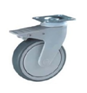 Plastic Body Swivel Top Plate Braked 100mm