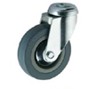 Grey Rubber Swivel Bolt Hole 125mm