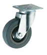 Grey Rubber Swivel Top Plate 50mm